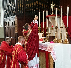 The Mass brings Christ down from heaven and sacrifices Him anew.