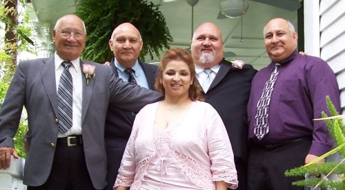 Left to right: Dad, Me, Ednoi, Eli and Esther