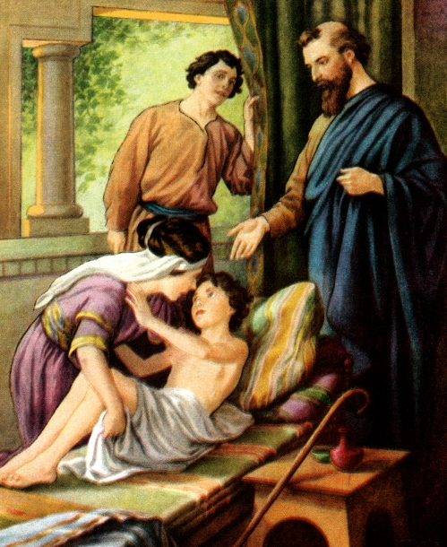 Elisha heals the child.