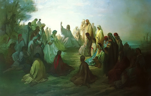 Jesus Preaching the Sermon on the Mount - Gustave Dore